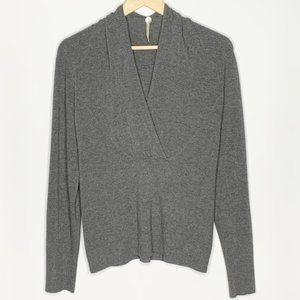 Margaret O'Leary V neck surplus Gray Sweater